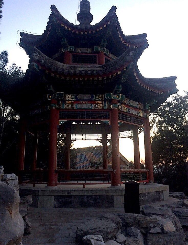 беседка в китайском стиле, туризм в китае
